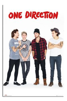 One Direction Without Zayn Portrait Poster