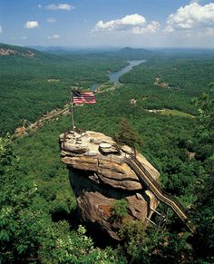 Chimney Rock Park, NC - You've GOT to climb the stairs if you can & the view is spectacular.
