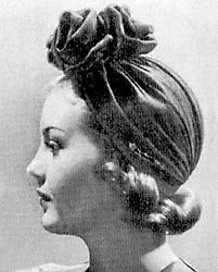 1940's turban. Love this one!