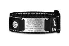 The Best Runner ID Tags | After 10 hours of research, including interviews with first responders and ER doctors, we recommend the Road ID Wrist ID Sport safety ID band. This adjustable identification band displays personal and health information on a replaceable stainless-steel tag that you wear right where first responders are most likely to notice it.