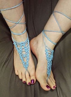 Although I am still buried in snow, I am dreaming of summer! I love designing barefoot sandals!  I have several ideas for patterns th...