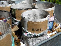 homework: a creative blog: The Dirt: newspaper seedling pots