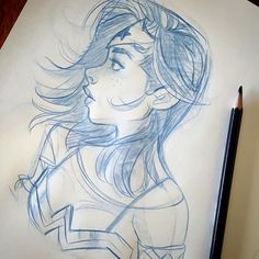 """""""Blue pencil dook...Super quick wonder woman 19 this afternoon..Keep on keepin on!"""" Credit: Mel Milton"""