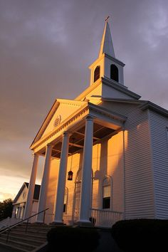 The church I went to when I was growing up.  United Baptist Church,  Ellsworth, Maine