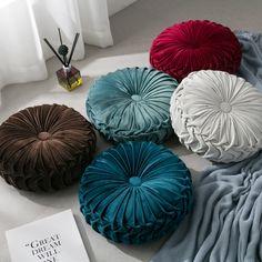 Home & Living - Buy Throw Pillows Online - Bed & Bath Couch Cushions, Velvet Cushions, Floor Cushions, Velvet Couch, Round Floor Pillow, Round Pillow, Pumpkin Pillows, Luxury Flooring, Deco Boheme