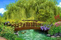 táj kép  Szentes Garden Bridge, Outdoor Structures, Google