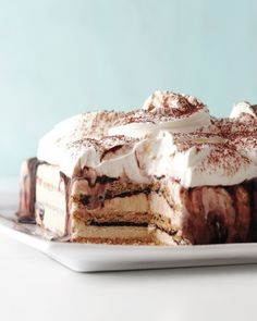 Fudgy Ice Cream Cake Recipe. Tip: You want your ice cream to be just soft enough to work with. Take each pint out to soften while the cake layers are freezing.