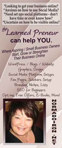 Where Aspiring / Small Business Owners Start, Grow or Strenghten Their Business Online  http://NormaDoiron.NET