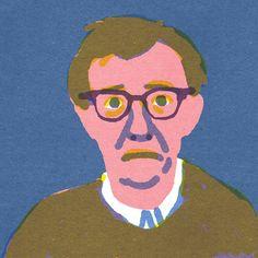 """Woody Allen, """"Quick Portraits"""" by Lorenzo Gritti Art And Illustration, Portrait Illustration, Illustrations And Posters, Rosa Parks, Portraits Illustrés, Simple Portrait, Graphic Artwork, Art Design, Graphic Design"""