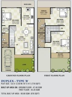 16 X 50 House Plans Unique House Small Plans Stairs 16 Super Ideas In 2020 2bhk House Plan, House Layout Plans, Dream House Plans, Small House Plans, House Layouts, Plan Duplex, Duplex Floor Plans, House Floor Plans, 20x30 House Plans