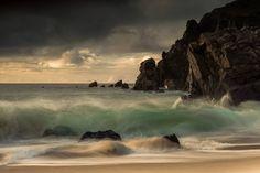 Drama at Dailmor, Isle of Lewis, Scotland.
