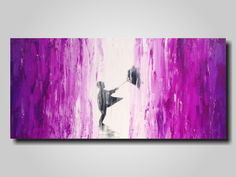Original Large Abstract painting - 18 X 36 Inches-by Artist JMJartstudio-Taken away -Wall art-wall decor - Oil painting-Purple and white by JMJARTSTUDIO on Etsy https://www.etsy.com/listing/179171807/original-large-abstract-painting-18-x-36