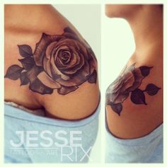 Black And Gray Rose By Jesse Rix