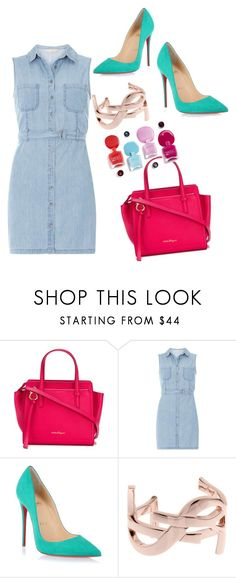 """""""Chic"""" by afef-ktari ❤ liked on Polyvore featuring Salvatore Ferragamo, Dorothy Perkins, Christian Louboutin and Yves Saint Laurent"""