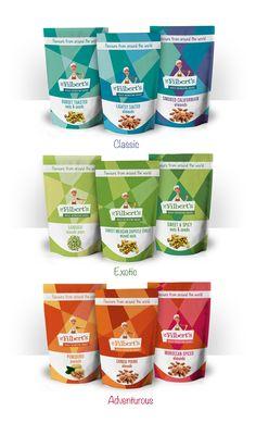 Mr. Filberts #packaging Re-design concept by Nuria Rodríguez, via Behance. Yumm PD