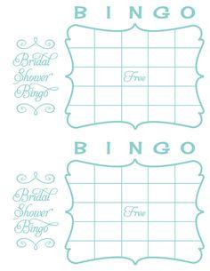 Printable Bridal Bingo - Tiffany Blue