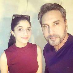 Pakistani stars in Mumbai   Gorgeous Mawra Hocane paid a surprise visit to Adnan Siddiqui during his movie shoot.
