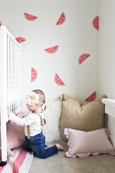 NEW FULL COLOR Watermelon decals by urbanwalls on Etsy