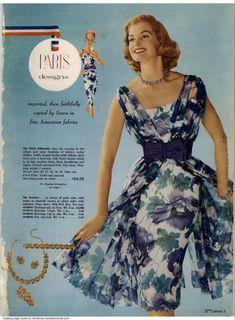 1960 Sears Spring Summer Catalog, Page 3 Retro Fashion, Vintage Fashion, Paris Design, Christmas Catalogs, Vintage Glam, Dress Backs, Vintage Outfits, Vintage Clothing, Vintage Jewelry