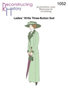 Ladies' 1910s walking suit pattern | 1910s ladies' suit | Great War Walking Suit