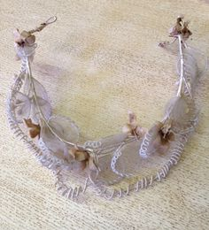 Charming Original Antique French Bridal Tiara