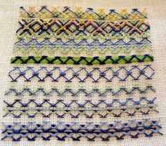 Chevron Stitch by marycorbet, via Flickr