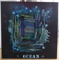 My Paintings by Dortesjs: Mixed media /Ocean - 60x60cm pris 2000,-
