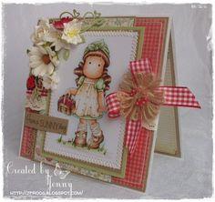 Etsy Transaction - Handmade Magnolia Tilda with Cherry Basket Card