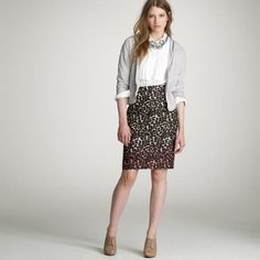 J. Crew Wildcat Pencil Skirt - Size 8 - NWT - Retail price $98 - Our price $25 - Sale supports  New York Cares