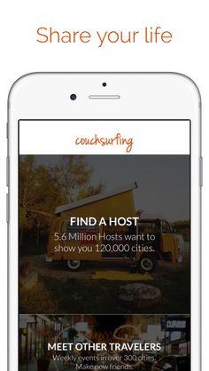 Couch Surfing travel app