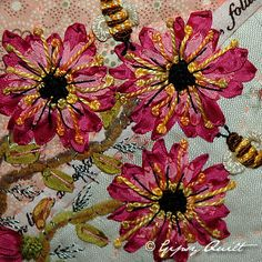 lovely silk ribbon embroidery by Gipsy Quilt