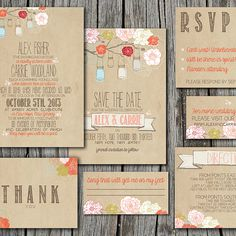 DIY Invitations: include the ceremony/reception invitation, a reply card, directions/travel info (hotels, wedding website) and an envelope. Bonus for thank you notes!