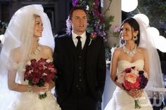 "HART OF DIXIE  ""The Big Day""  Pictured (L-R): Jaime King as Lemon, Scott Porter as George, and Rachel Bilson as Dr. Zoe Hart.  Greg Gayne/The CW.  © 2012 The CW Network, LLC. All rights reserved."
