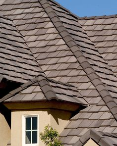 Bel Air tile in a brown blend.  *Staggered Installation   *Not all colors and profiles available in all regions. Check www.eagleroofing.com for availability in your area.