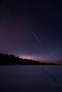 shooting stars and clear night skies