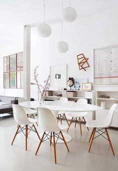 Eames chair white