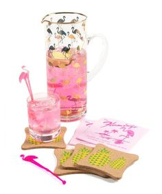 Look what I found on #zulily! Tropical Flamingo 40-Piece Cocktail Party Set #zulilyfinds