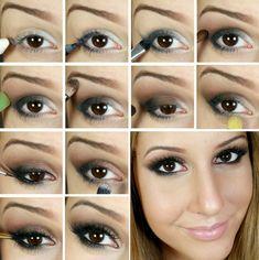 Passo a passo tutorial maquiagem para festa : via Tudo Make – Maior blog de maquiagem, beleza e tutoriais de Curitiba.