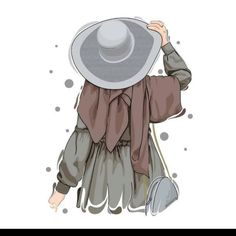 Cute Girl Wallpaper, Cute Wallpaper Backgrounds, Cute Cartoon Wallpapers, Cartoon Girl Drawing, Girl Cartoon, Cartoon Art, Cartoon Design, Hijab Anime, Hijab Drawing