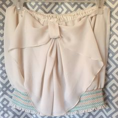 SALE  20% off bundles  BOHO crop top  Cute with bow. Like new. Fits S-L just fine :) tag says Large.  Tags  Free people lululemon San Lorenzo kaikini boys + arrows band of gypsies acacia swim sexy bikinis Aztec Tops Crop Tops