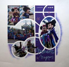 Scrapbooking Ideas, Scrapbook Layouts, Eole, Disney Scrapbook, Disney Mickey, Decoration, Baseball Cards, Crafts, Template