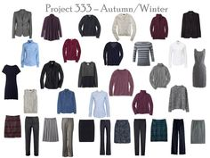 The Vivienne Files: Project 333: navy & grey, accessories, 2 weeks of outfits, also see previous post on how to put the 33 garments together.