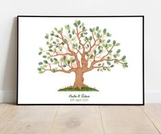 Instant Download Fingerprint Tree Newton wedding thumbprint   Etsy Wedding Fingerprint Tree, Fingerprint Art, Bridal Shower Decorations, Birthday Party Decorations, Presentation Pictures, Gift Drawing, Best Memories, Ink Color, Party Gifts