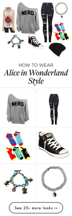 """Nerd"" by cheshirecatin-neverland on Polyvore featuring 2LUV, Converse, Disney and Vans"
