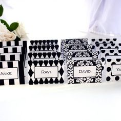 Bold Classics Place Card Collection - Black and White - The Printable Shoppe
