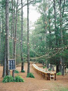 stunning woodland wedding reception