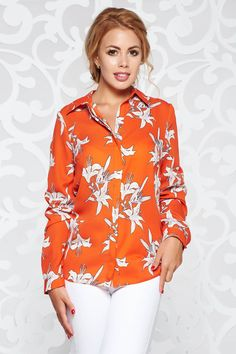 Bluza dama portocalie Floral Tops, Casual, Women, Fashion, Moda, Women's, Fashion Styles, Woman, Fasion