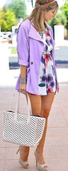 Lavender Short Trench