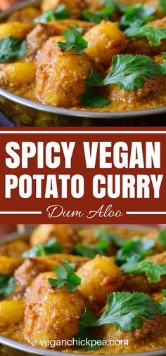 Simple Healthy Curry Potato | Vegan