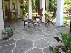 Grouted stamp patio